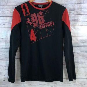 Ferrari 1964 Red and Black Long Sleeve Shirt